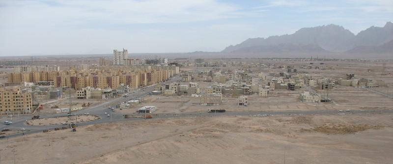 Tak wygląda widok z tej wierzy milczenia. Jak widać jest ona już prawie w mieście, otoczona jest z każdej strony blokowiskami