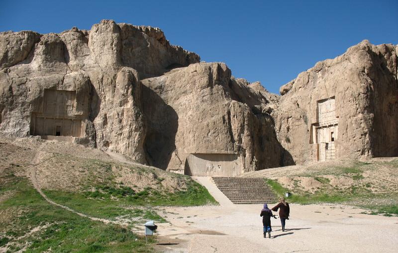 Grobowce królów koło Persepolis.