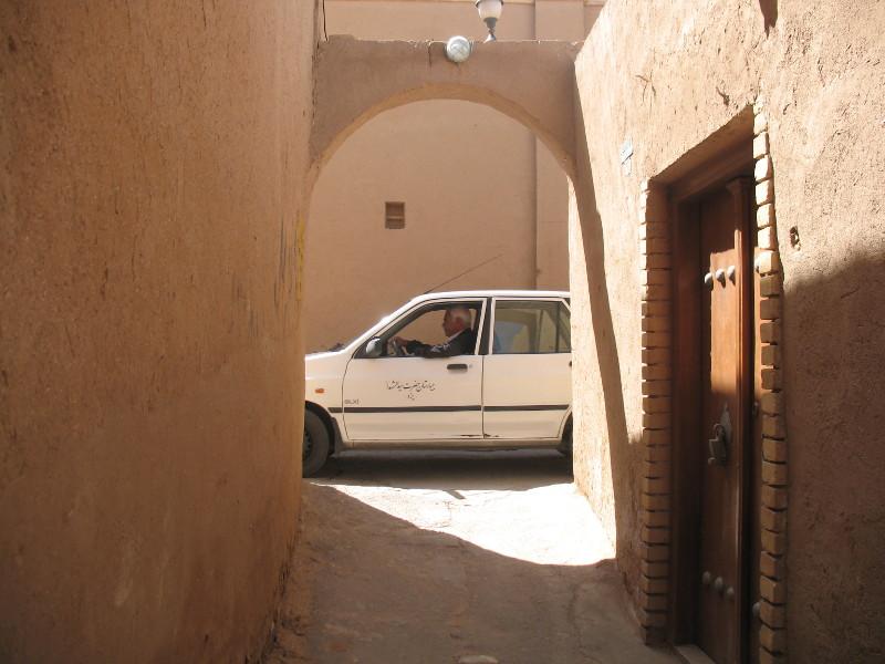 Jedna z uliczek starego miasta w Yazd
